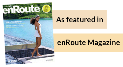 Featured in En Route Magazine
